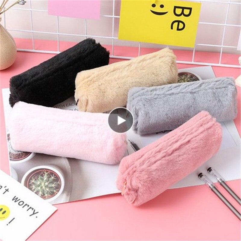 Cosmetic Brush Plush Bag Makeup Case Pencil Toiletry Kits Travel Organizer Waterproof Beautician Por