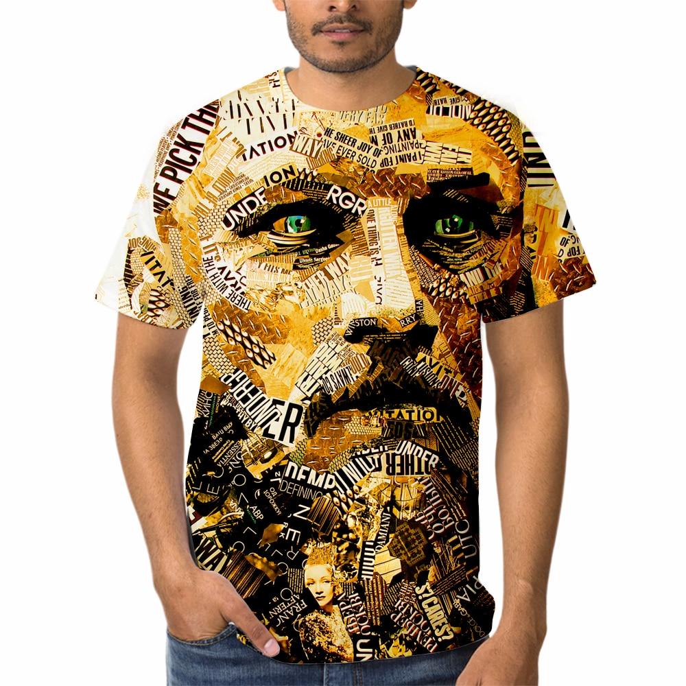 Летние мужские большие винтажные Дизайнерские Модные Этнические футболки в стиле Харадзюку С 3d принтом, уличная одежда, крутые футболки в с...