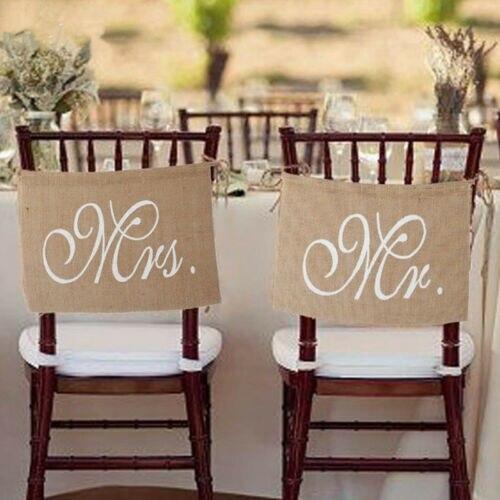 1 conjunto de 2 arcos mr & mrs cadeira banner conjunto cadeira garland rústico decoração de casamento