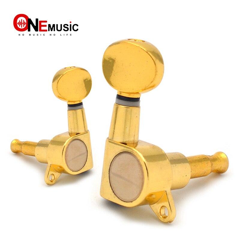 Sintonizador de instrumentos para guitarra, sintonizador de chaves de ouro cromado para violão, estilo tele, guitarra elétrica