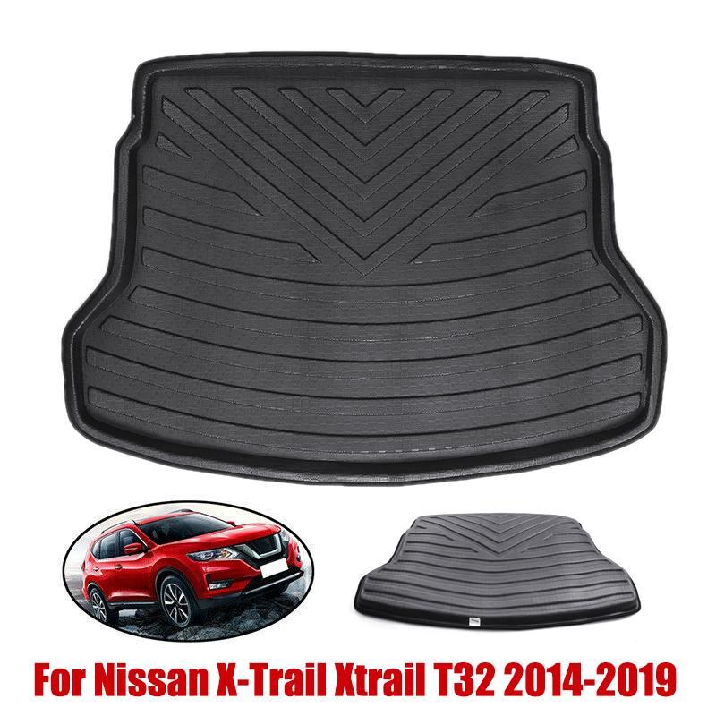 Audew parte trasera del maletero de carga tapete bandeja alfombra Protector de barro para Nissan x-trail Xtrail T32 2014-2019 accesorios impermeables para el coche
