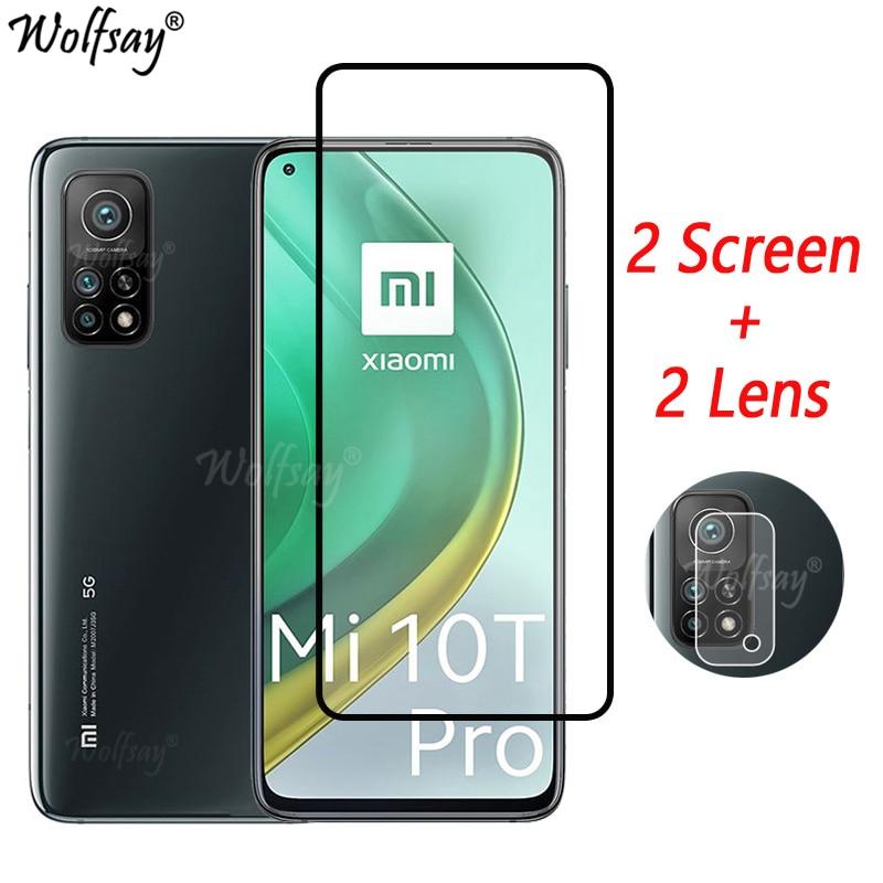 Full Cover Tempered Glass For Xiaomi Mi 10T Pro 5G Screen Protector For Xiaomi Mi 10T Pro Camera Glass For Mi 10T Pro 5G Glass недорого