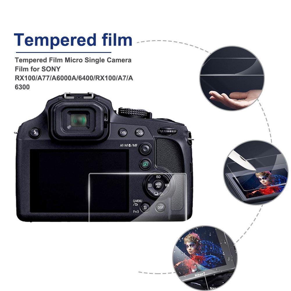 Protector de pantalla de vidrio óptico 9H óptico de 0,3mm película de piel para SONY RX100/A77/A6000A /6400/RX100/A7/A6300