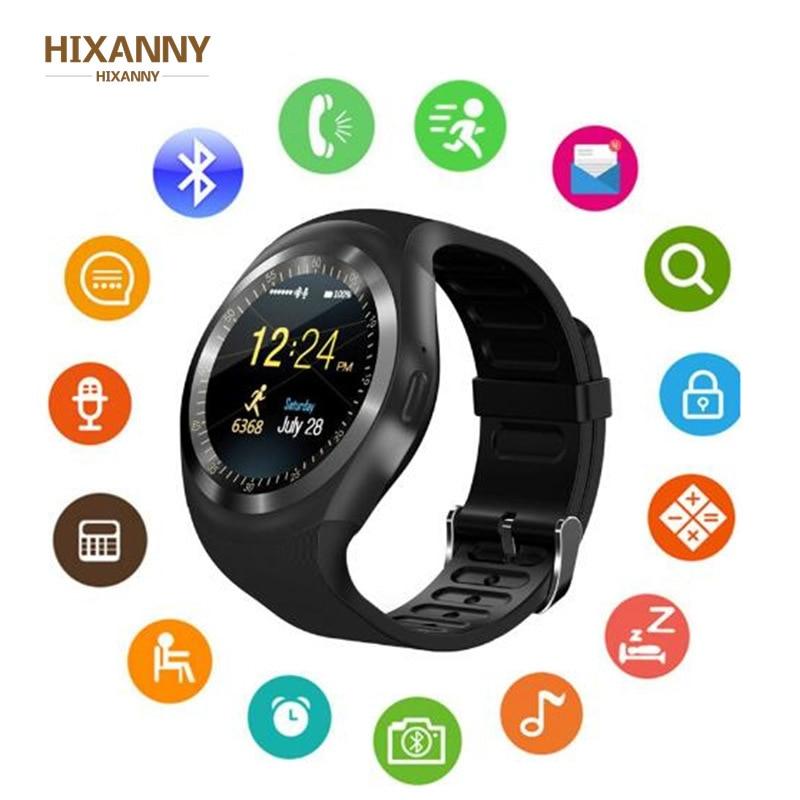 Bluetooth relógio inteligente bluetooth android smartwatch multifunções chamada de telefone gsm sim passometer 16 país língua rom ram 32 m