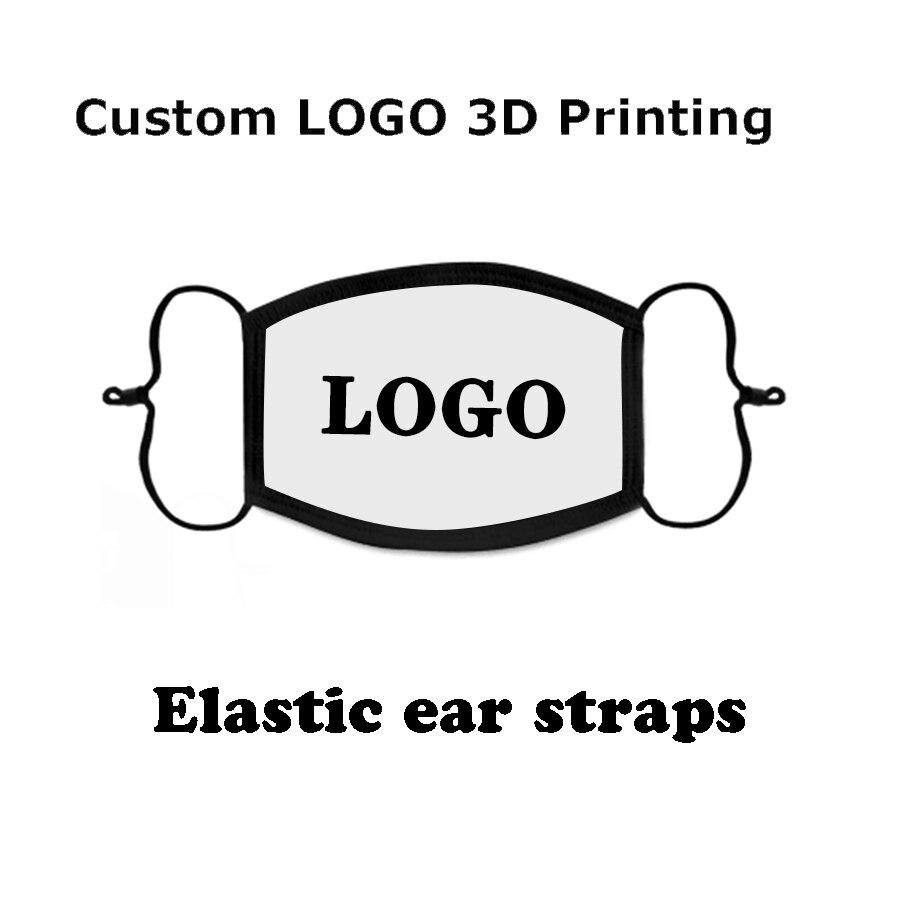 100pcs Custom  logo Personalized photo DIY 3D printing white/black mask