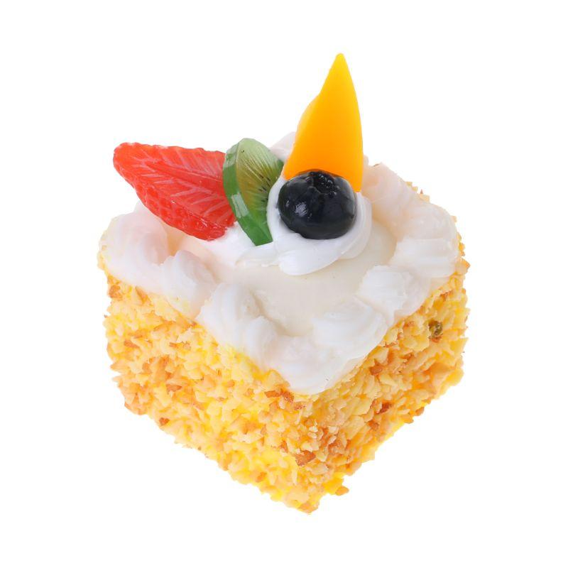 Simulación Artificial de pastel, modelo de comida falsa, juguetes educativos de PU, accesorios de fotografía de cocina, decoración del hogar H4GD