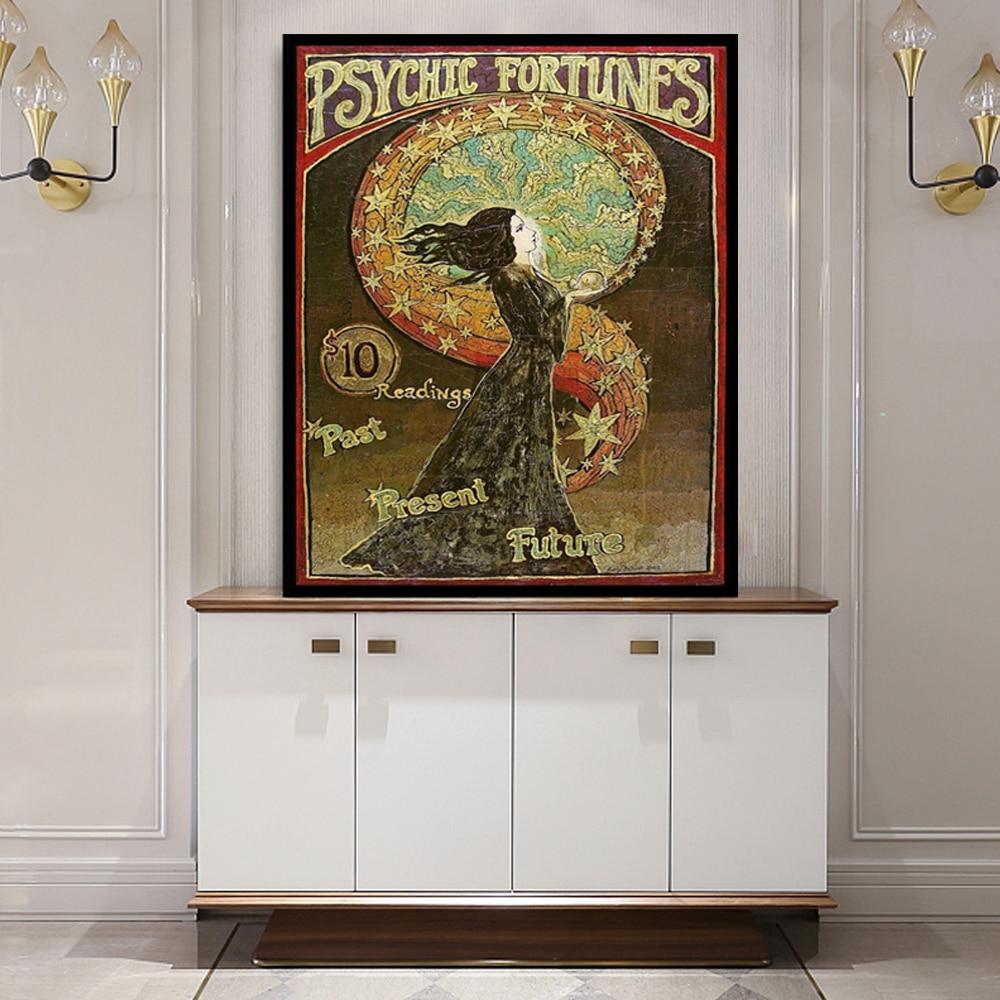 Pintura en lienzo de diosa Bohemia, pósteres psicodélicos de mitología pagana, Cuadros impresos, arte de pared, decoración para sala de estar, Cuadros