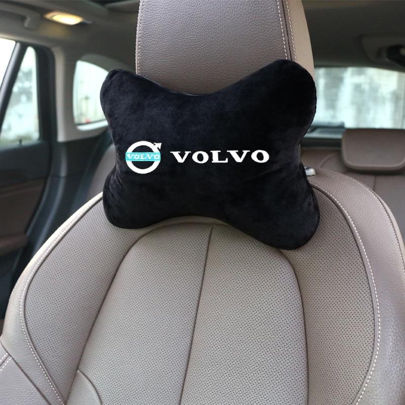 Nova marca chegada pescoço do carro almofadas de flanela algodão lateral único encosto cabeça apto para volvo v40 v60 s60l s80 xc80 xc90