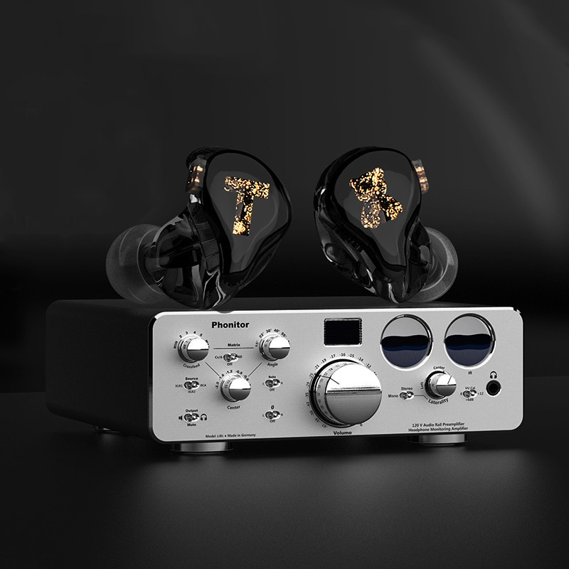 Auriculares de armadura balanceada TFZ Tx Bear 3 BA, monitores de alta fidelidad con cancelación de ruido, Cable desmontable profesional de 2 pines