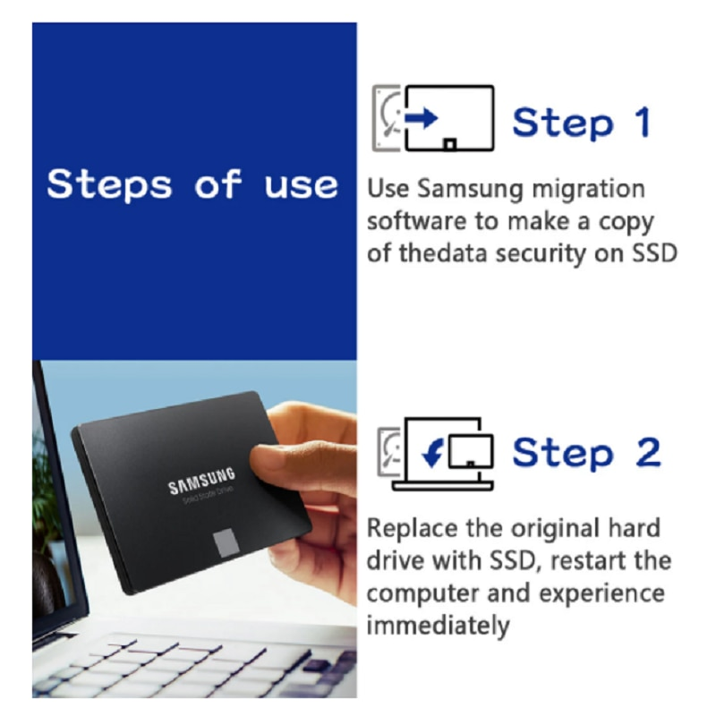 SAMSUNG SSD 870 EVO 250GB 500GB Internal Solid State Disk HDD Hard Drive SATA 2.5 1TB 2TB Inch Laptop Desktop PC enlarge
