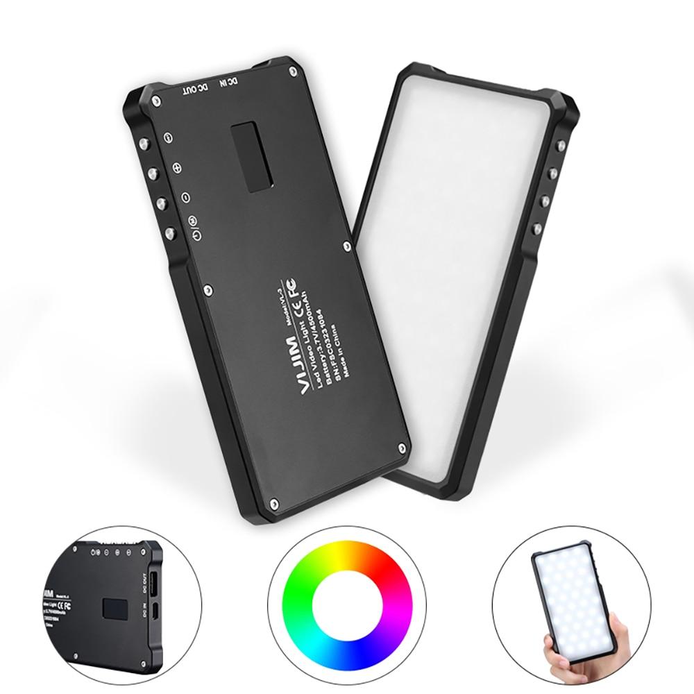 VIJIM VL-3, 3000-6500k CRI 96, luz LED RGB a todo Color para vídeo, luz DSLR con pantalla OLED, luz de relleno para estudio de fotografía