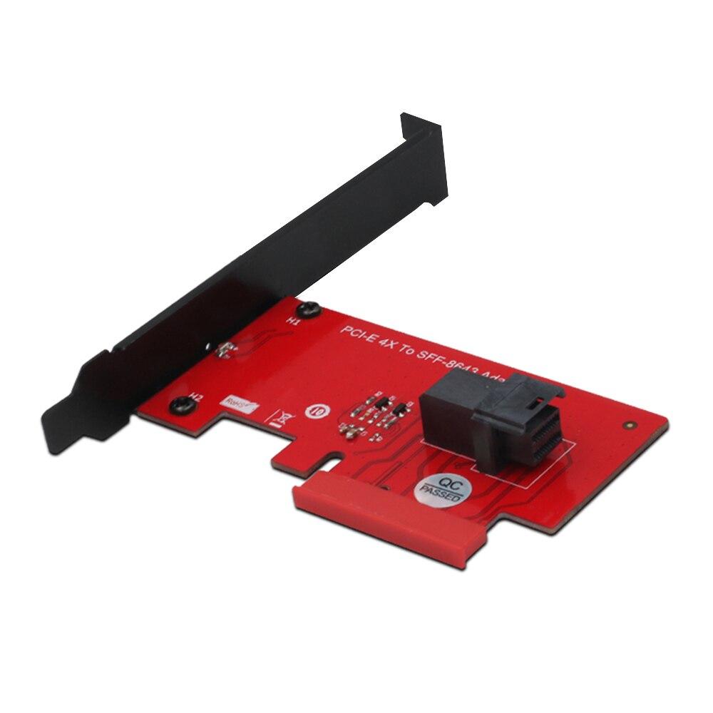 SFF-8643 إلى PCIe 4X بطاقة محول 2.5 بوصة u-2 PCIe NVMe 36-Pin SSD محول قرص صلب بطاقة التوسع حاسوب شخصي مكتبي كمبيوتر