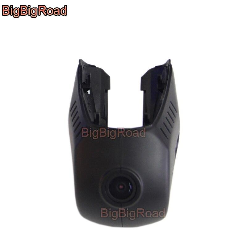 BigBigRoad Wifi coche DVR grabador de vídeo Dash Cam Cámara FHD 1080P para TESLA modelo S-S 2017 de alta calidad de visión nocturna
