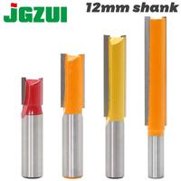 1PC 12mm Shank high quality Short Straight/Dado Router Bit Set 6810121416192022 Diameter Wood Cutting Tool
