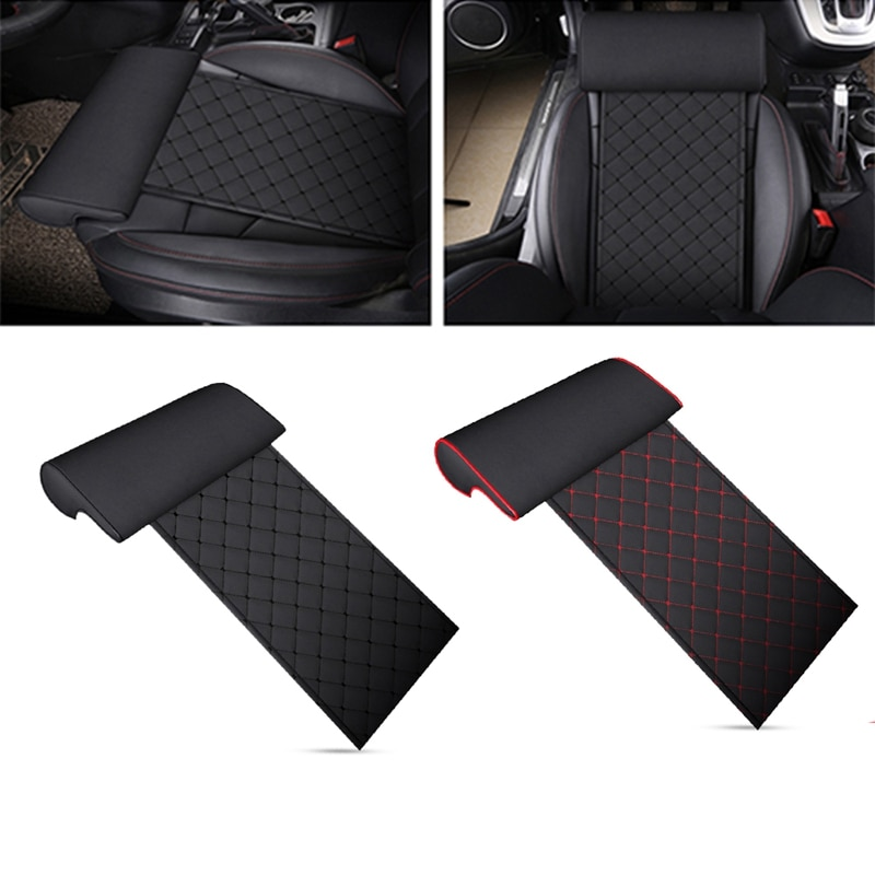Automobile Seat Leather Leg Pad Support Extension Mat Soft Foot Support Leg Leather Cushion Knee Pad