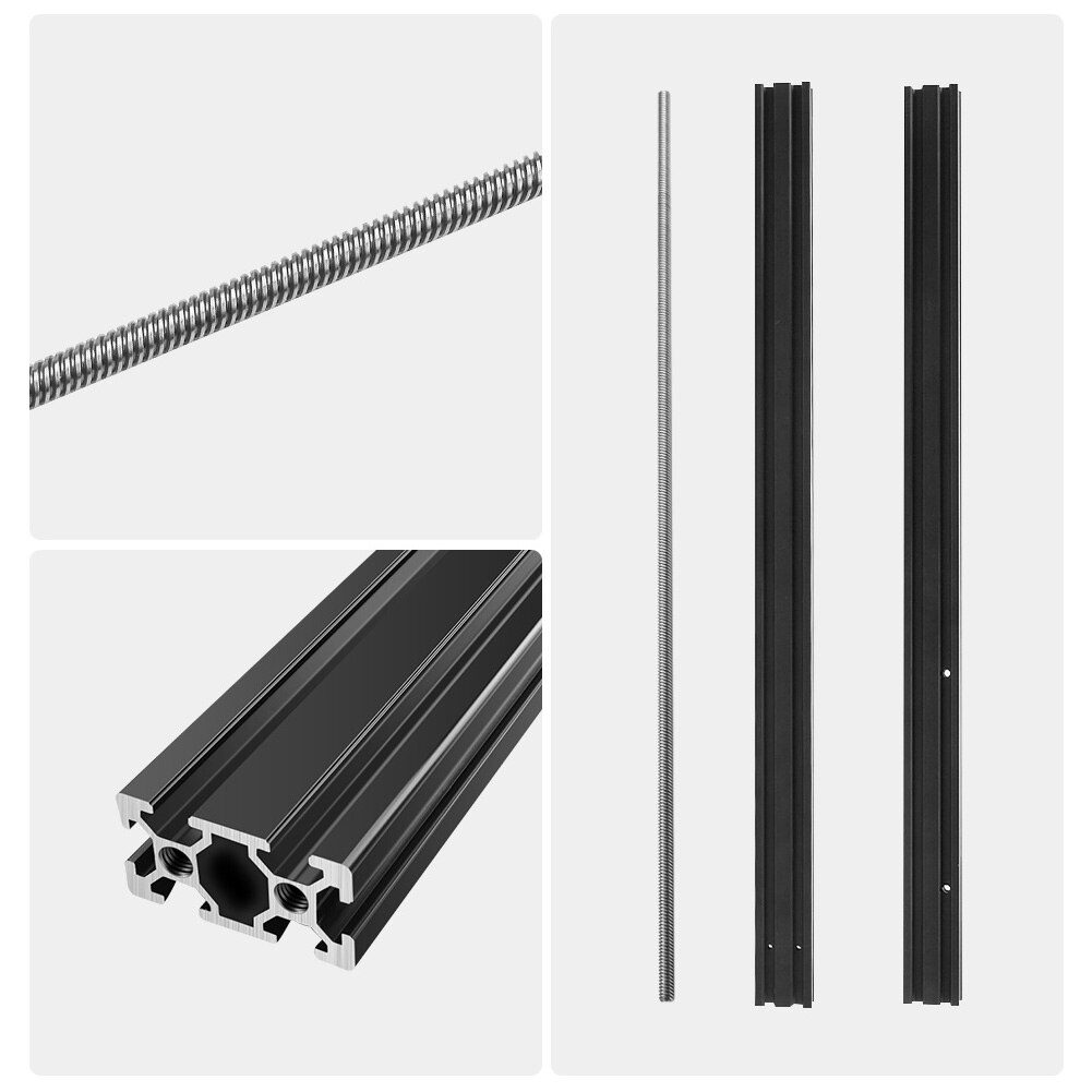 3D Printer Z-Axis Extension Kit V-Slot 2040 Aluminum Profile Extrusion Frame Compatible with Ender 3 Pro Firmware setting tools enlarge