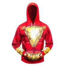 DC super-héros Shazam Cosplay Costume 3D imprimé Costume Premium manteau sweats à capuche pull à capuche