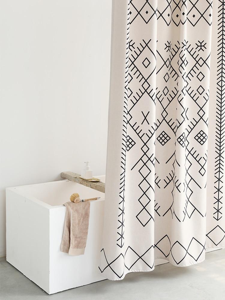High Quality Shower Curtains Pattern Elegant Durable Shading Bathroom Shower Curtain Art Kurtyny Bathroom Accessories DK50SC enlarge