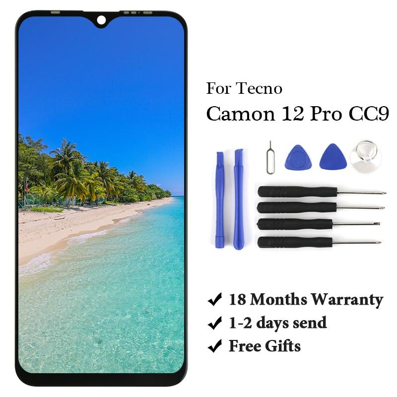 10 Uds a estrenar para Tecno Camon 12 Pro CC9 Lcd digitalizador montaje de alta calidad reemplazo para Tecno Camon 12 Pro CC9 pantalla