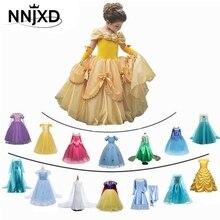 Fancy Meisje Prinses Jurken Doornroosje Belle Schoonheid En Het Beest Cosplay Kostuum Elsa Anna Jurk Kinderen Party Kleding