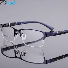 Zilead Halb Rahmen Legierung Fertig Myopie Glassse Ultrlight Klare Linse Kurzsichtig Gläser Rezept Eyeglasses0-1.0to-6,0