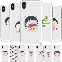 chibi maruko chan anime transparent phone cover hull for samsung galaxy s8 s9 s10e s20 s21 s30 plus s20 fe 5g lite ultra soft