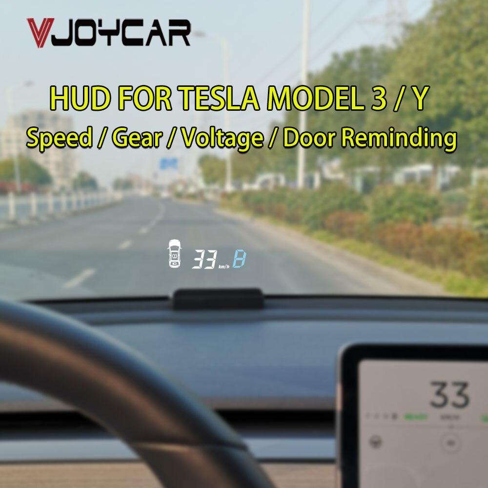 Vjoycar HUD V90 for Tesla Model 3/Y/X/S Head Up Display Speed Projector Speedometer Turn Light Gear Guide Battery Door Display