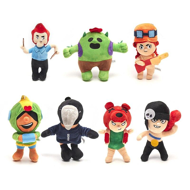 7 juegos de brawl anime dibujos animados estrella héroe figura Spike Shelly PRIMO MORTIS juguete modelo niño juguete regalo