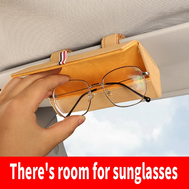 Sun Glasses Holder Box Magnetic Car Visor Glasses Case Organizer Glasses Storage Box Holder Visor Sunshade Auto Accessories Men