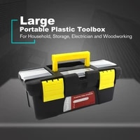 portable sml size plastic hardware toolbox household multifunction maintenance toolbox car storage box anti fall box