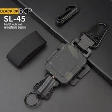 2 In 1 Outdoor Anti-Theft Telescopicหัวเข็มขัดยุทธวิธีกระเป๋าขนาดเล็กและพวงกุญแจผู้ถือAnti-Lost EDC Retractableฤดูใบไม้ผลิเชือ...