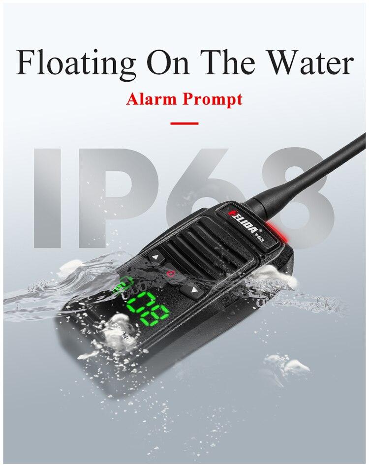 5W VHF walkie talkie waterproof 2 way radio long range 136-174 OR 400-480MHZ with Alarm function enlarge