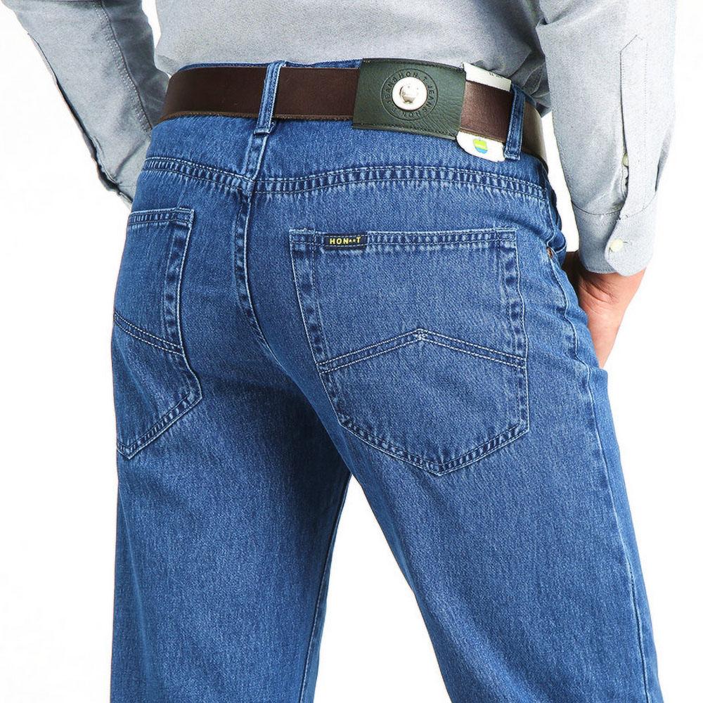 Джинсы мужские свободного покроя, Классические Брендовые прямые джинсовые брюки из хлопчатобумажной ткани, в повседневном стиле, на лето