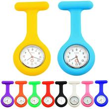 New Solid Color Clip On Analog Digital Cute Silicone High Quality Nurse Watch Brooch Fob Pocket Tuni