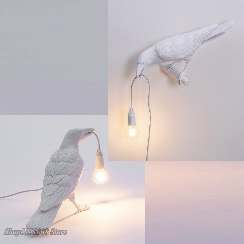 Итальянская настольная лампа Seletti, Скандинавская декоративная настольная лампа для гостиной, настольная лампа для птиц, Настольный светиль...