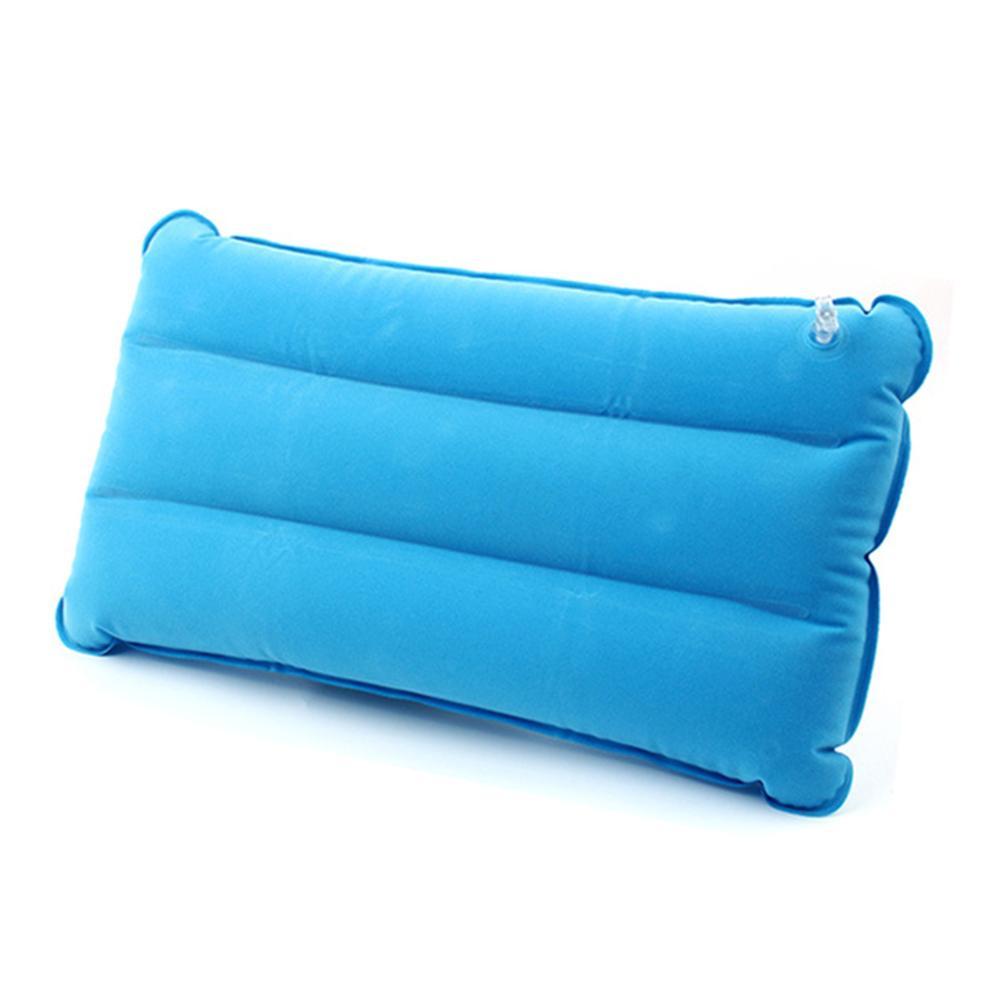 Almohada inflable Rectangular plegable al aire libre portátil de gran tamaño de PVC que se infla la cabeza cojines de aire reposacabezas para dormir en el Camping