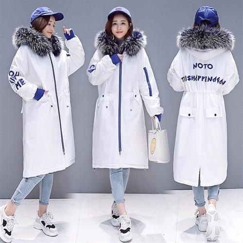 Parka 2020 Winter Jacket Women Big Fur Collar Thick Warm Parkas Outerwear White Black Plus Size Female Coat Clothes