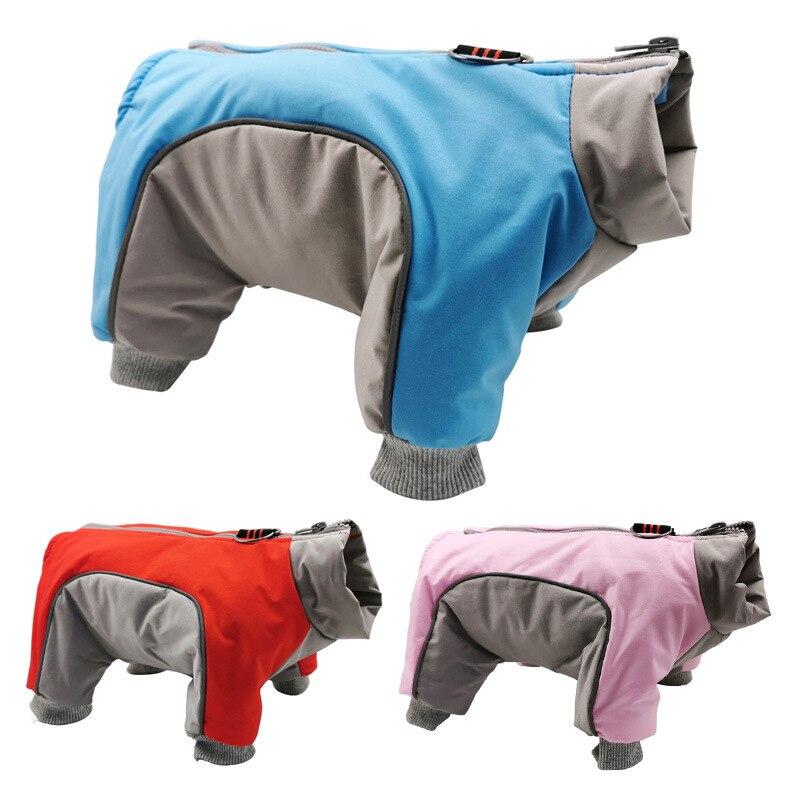 Vêtements dhiver pour animaux de compagnie vêtements rembourrés de coton Double couleur correspondant Plus vêtements de chien en velours vêtements à quatre pattes
