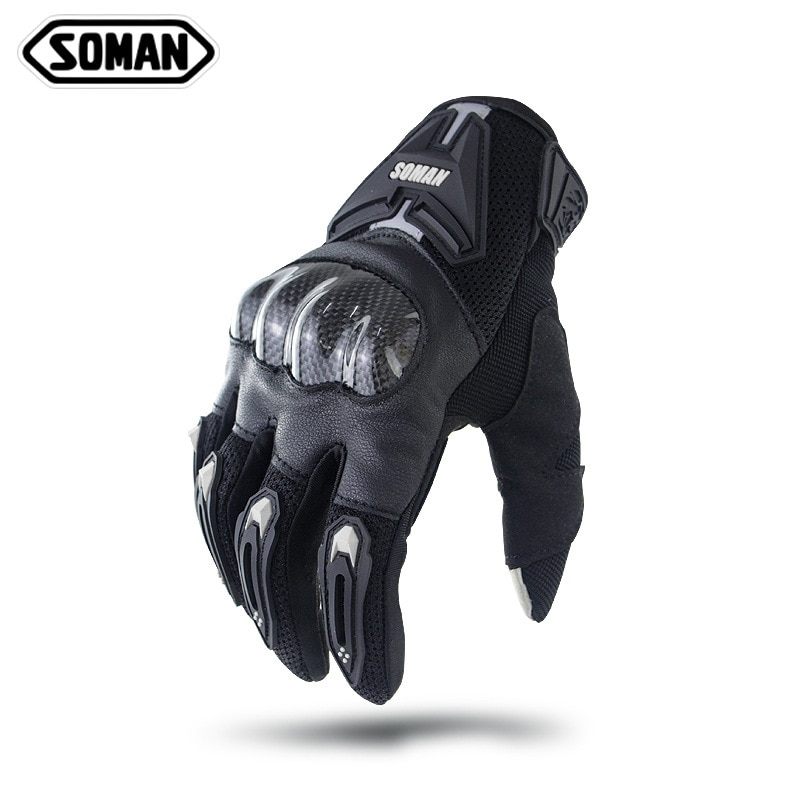 Motorcycle Racing Gloves Moto Guantes Motorcross Cycling Gloves Touch Screen Full Finger Glove Carbon Fiber Protector Man MG19B