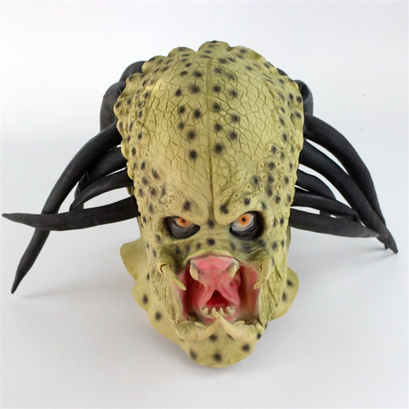 Máscaras De látex Alien para Cosplay, máscaras De Halloween para adultos, utilería para Cosplay, máscaras De Terror, Disfraces De Halloween, utilería para fiestas
