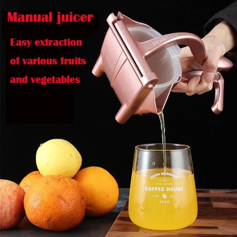 عصارة يدوية سبائك الألومنيوم ضغط اليد عصارة الرمان البرتقال الليمون عصير قصب السكر المطبخ الفاكهة أداة