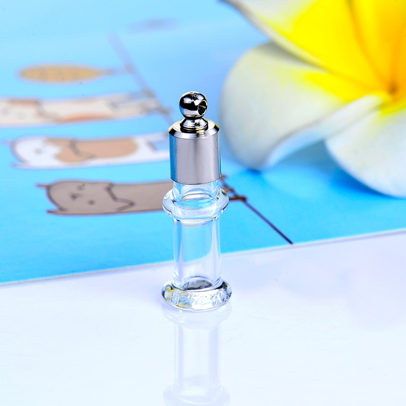Pequeños frascos de vidrio frasco colgante de 5 uds. Tapa de rosca recta agujero de 2,3mm para hacer bricolaje