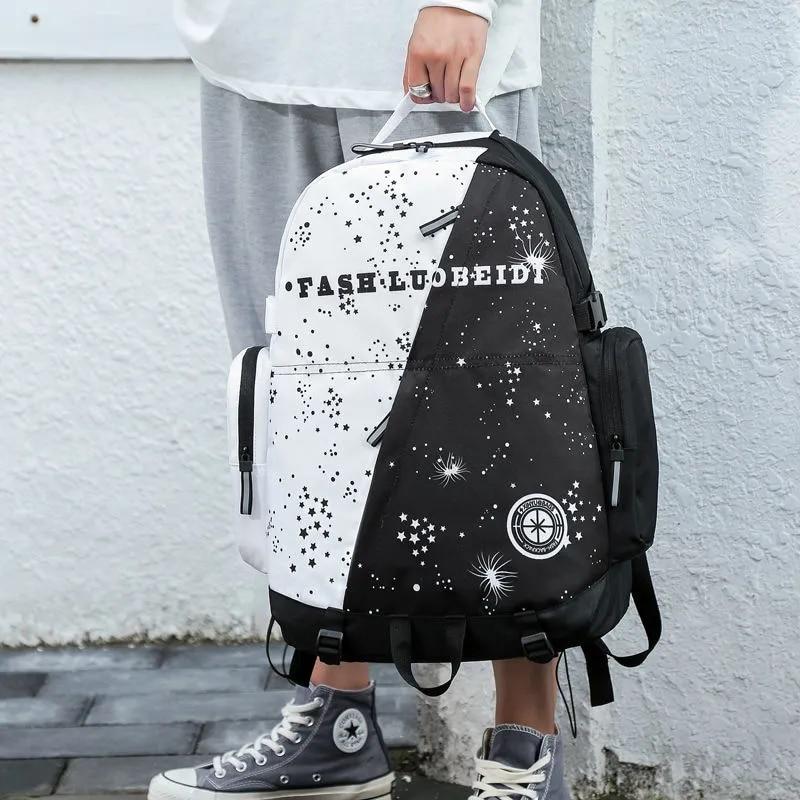 Модный трендовый рюкзак для подростков, крутые женские дорожные сумки для компьютера, Молодежные портфели унисекс