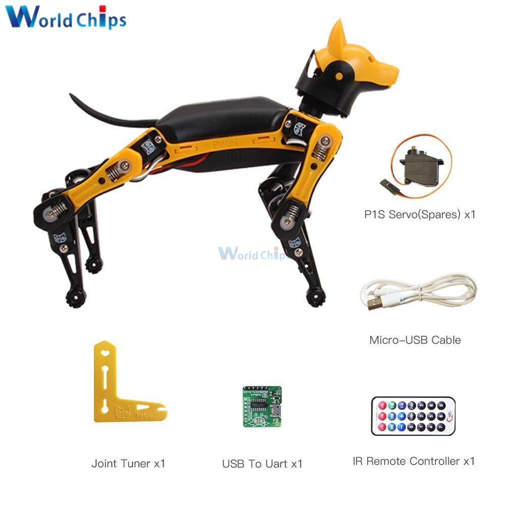 Palm-sized Robot Dog Open Source Programmable Intelligent Bionic Robot Dog Bionic Smart Robot Cool Toys for STEM DIY Robot Lover