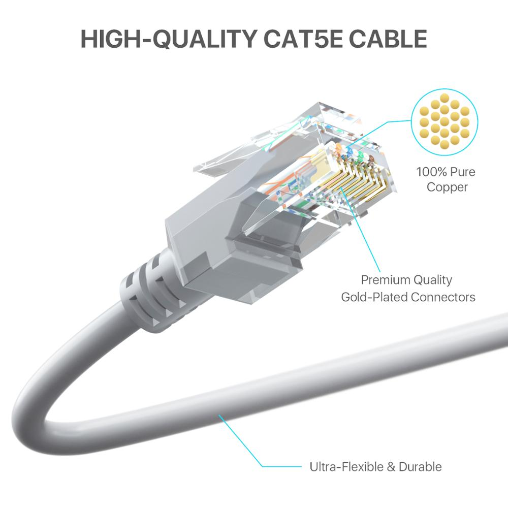 poe cable Cat5 Ethernet Network rj45 Cable Internet Patch LAN Wires CCTV Extender IP Camera Wifi Connection enlarge