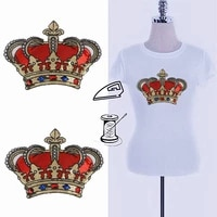 iron on patches for clothing 280mm crown red sequined fabric sequins strange things fashion t shirt women patch clothes stickers
