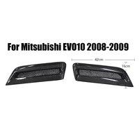 for mitsubishi evo10 2008 2009 carbon fiber front engine hood bonnet intake evo 10 side intake car styling