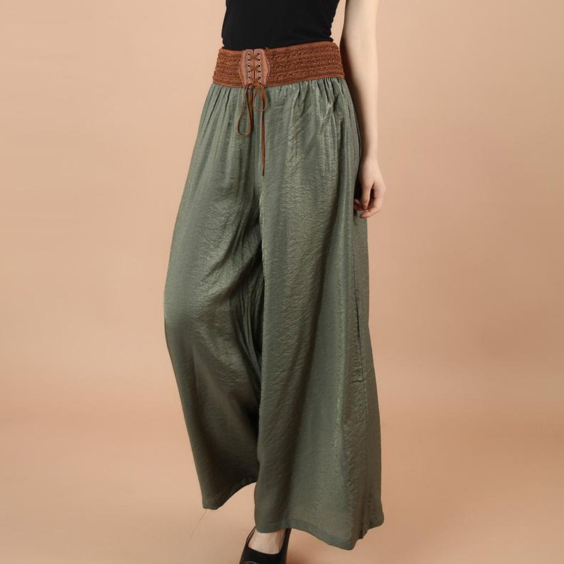 Cotton and Linen Wide-Leg Pants Women's Loose Summer Thin Pants Women's Large Size Casual Women's Loose Pants
