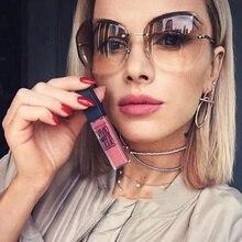 Rimless Sunglasses Women Brand Designer Fashion Gradient Shades Female Sun Glasses Vintage Mirror Fr