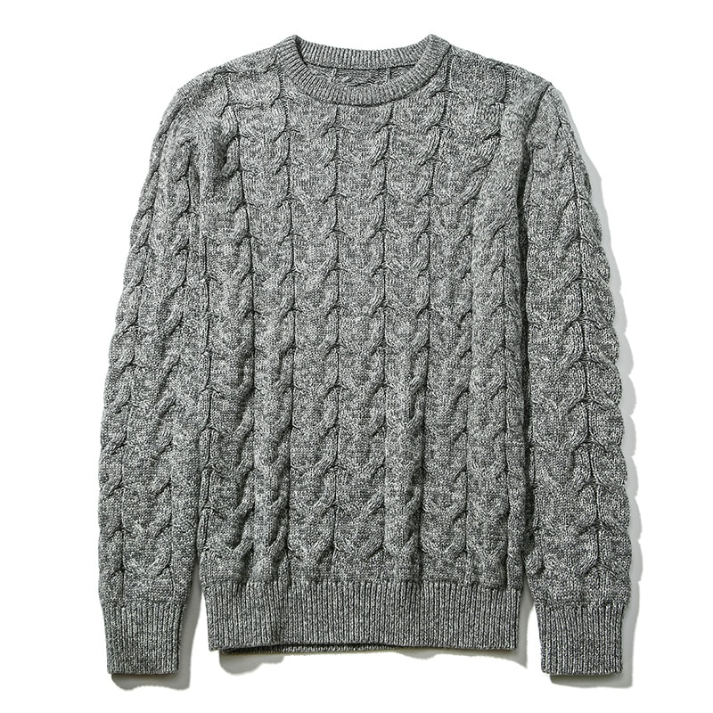 Jersey para hombre, Jersey Formal de manga larga con cuello redondo, Jersey de algodón 100% invierno para hombre, nuevo estilo, Jersey, ropa para hombre 2020 M-3XL